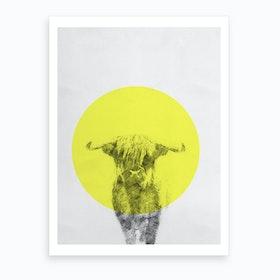 Cow On Paper Art Print