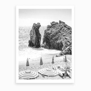Cinque Terre Black And White Art Print