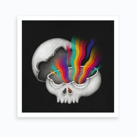Insideout Skull Art Print
