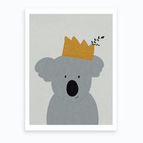 King Koala Nursery Decor  Art Print