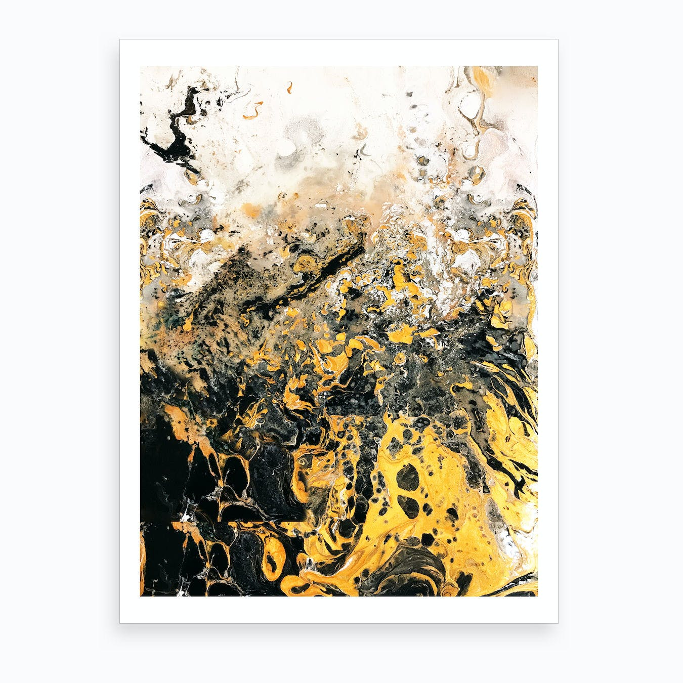 Golden Rain Art Print