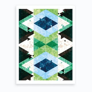 Bohemian Kilim Rhomb Art Print