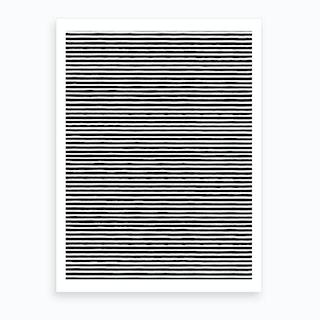 Marker Black Stripes Art Print