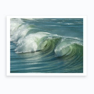 Wave Curls Art Print