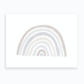 Scandi Nursery Rainbow  Pastel Colours  Art Print