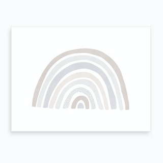 Scandi Nursery Rainbow  Pastel Colours  Art Print