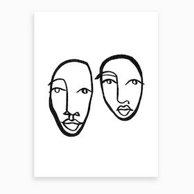 Faces 10 Art Print