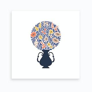 Ball Bouquet Blue Art Print