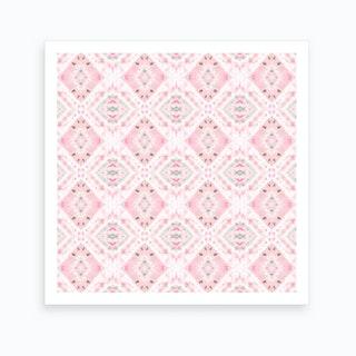 Boho Shibori Pink Art Print