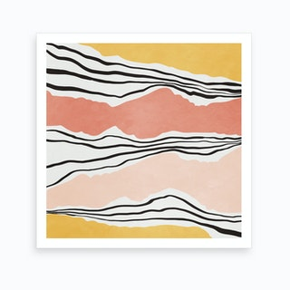 Modern Irregular Stripes 1 Art Print