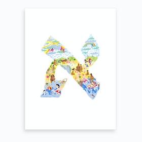 Alef Art Print