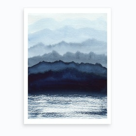 Indigo Side Of Nature Art Print