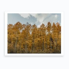 Autumnleavesinutah Art Print