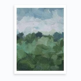 Windy Dayon Farm Art Print