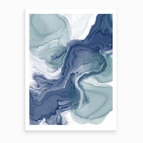 Sapphire River  Art Print