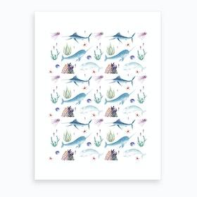Ocean Pattern Art Print