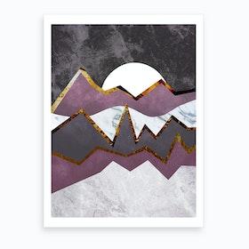 Abstract Alpine Art Print