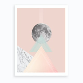 Geo Moon I Art Print