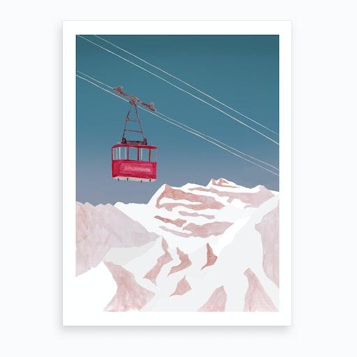 Mountain Love   Lift Art Print