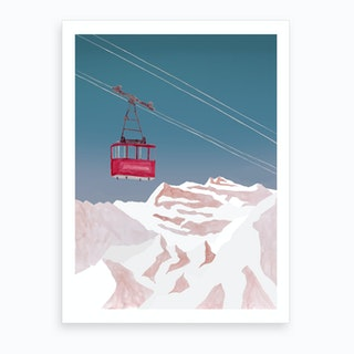 Mountain Love   Lift Art Print