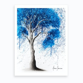 Ocean Sound Tree Art Print