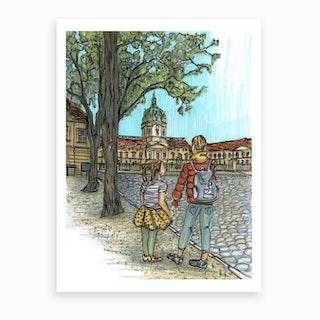 Berlin Charlottenburg Castle Art Print