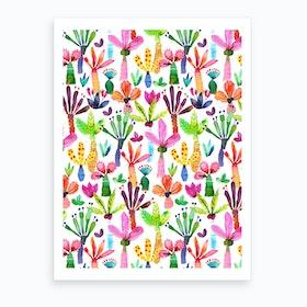 Palms Kids Garden Art Print