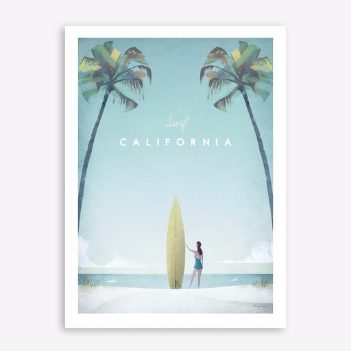 Surf California Print