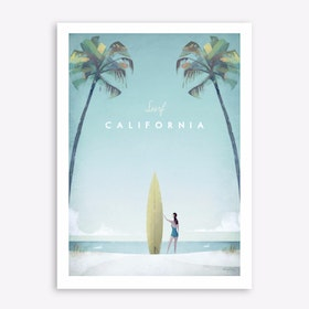 Surf California Art Print