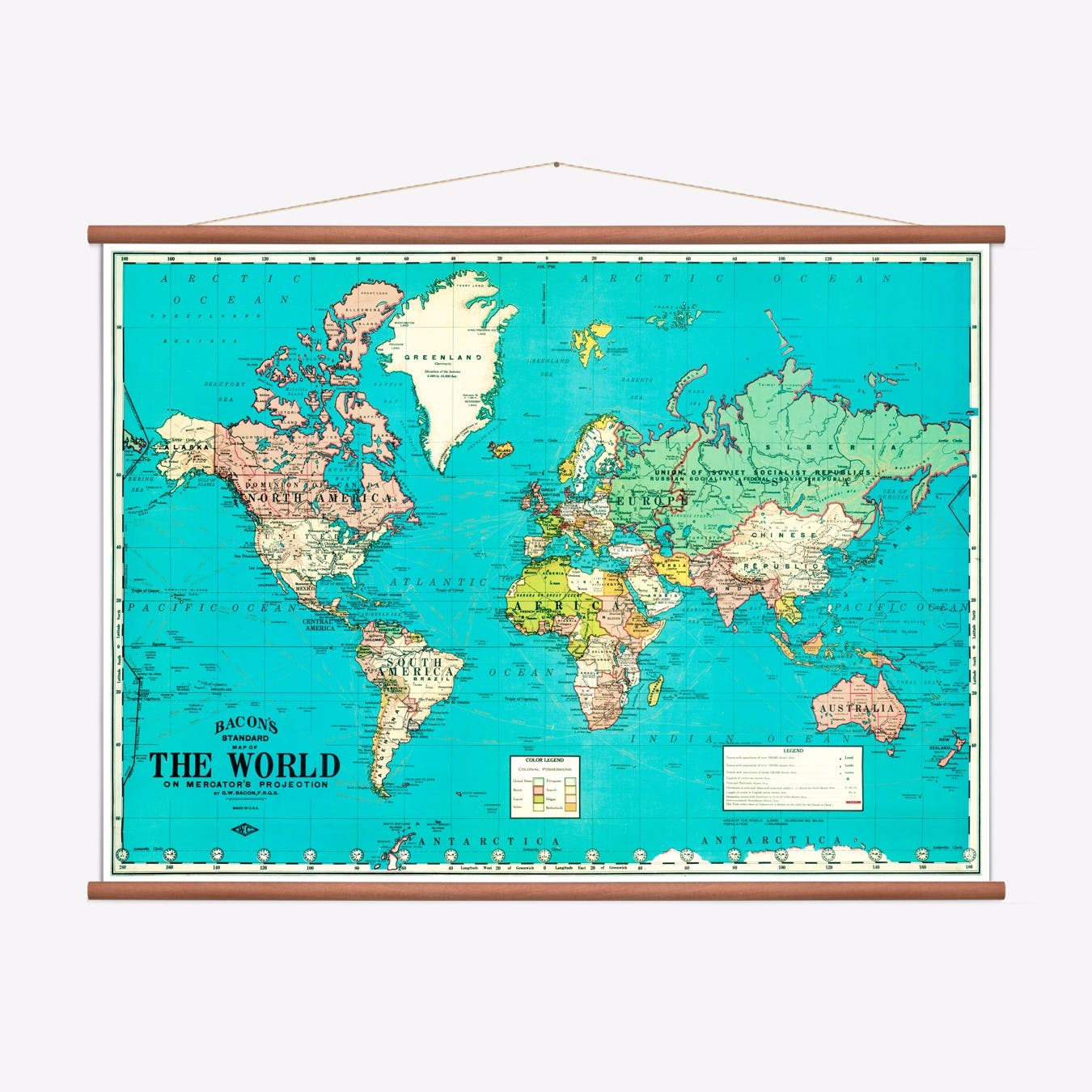 Picture of: Map Of The World Print Free Shipping Fy