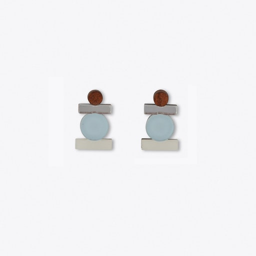 Stack Studs Pastel Blue