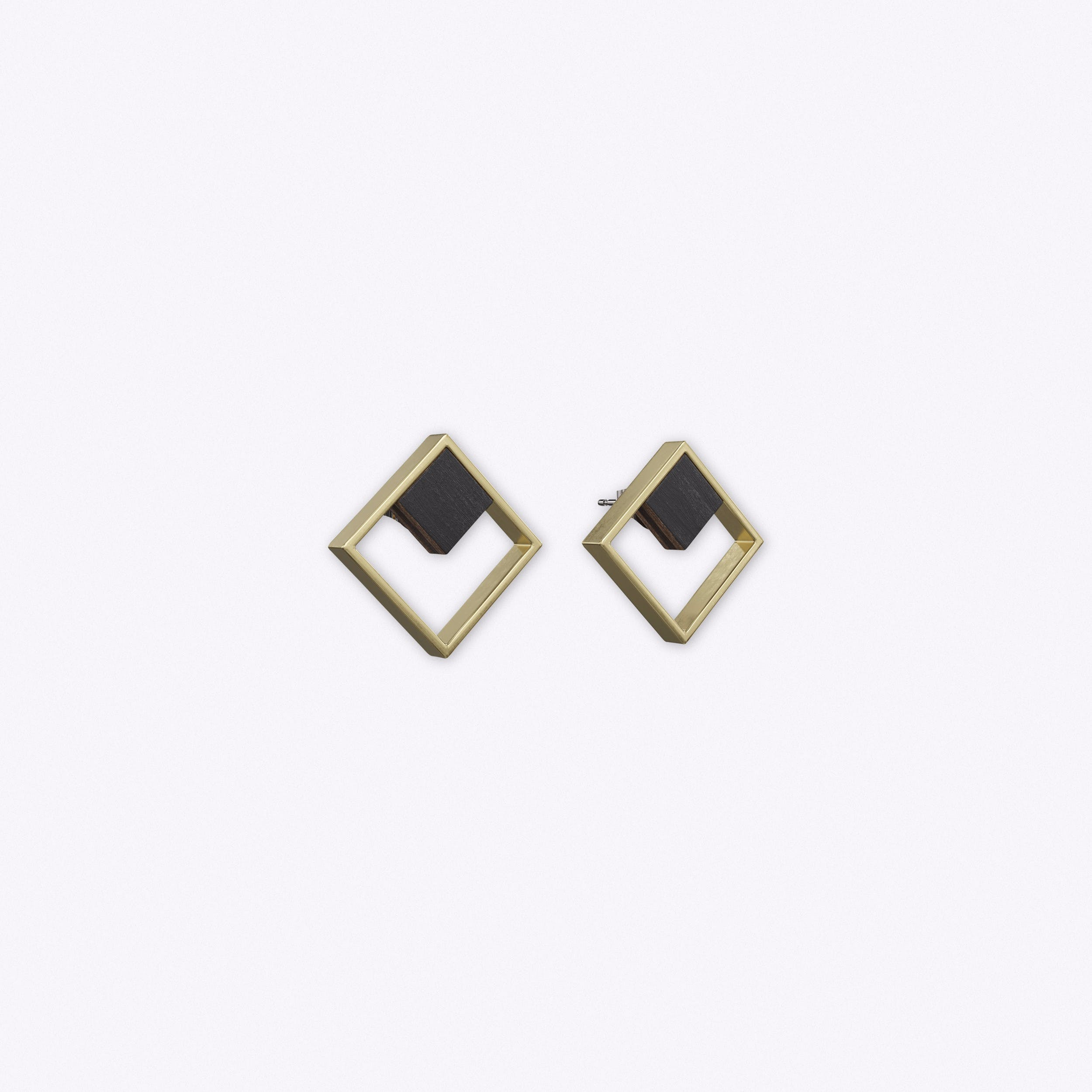Indikativ Earrings in Antique Gold