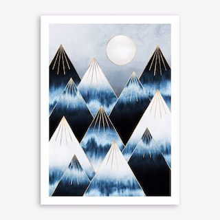 Mountains of frost Art Print