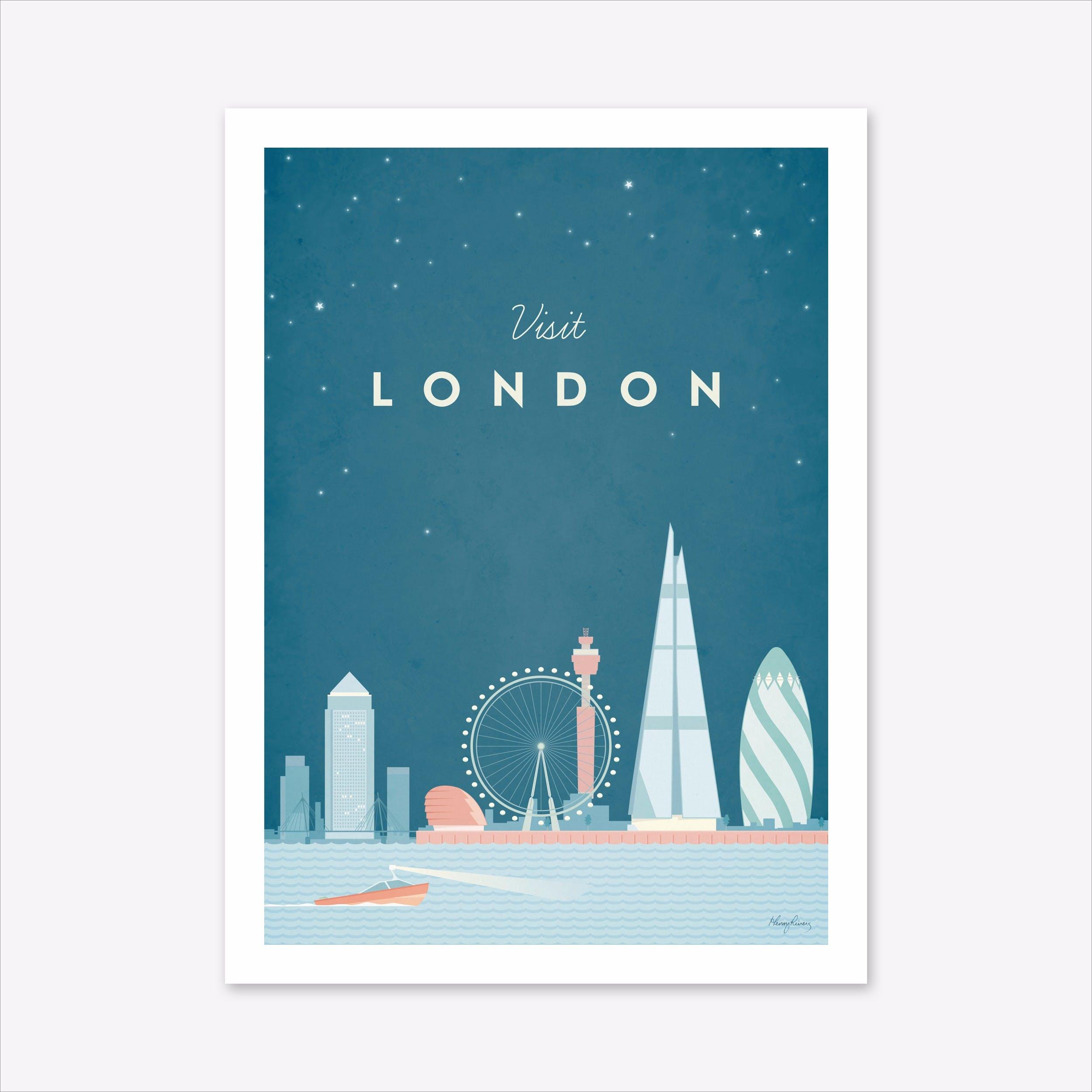 Visit London Art Print