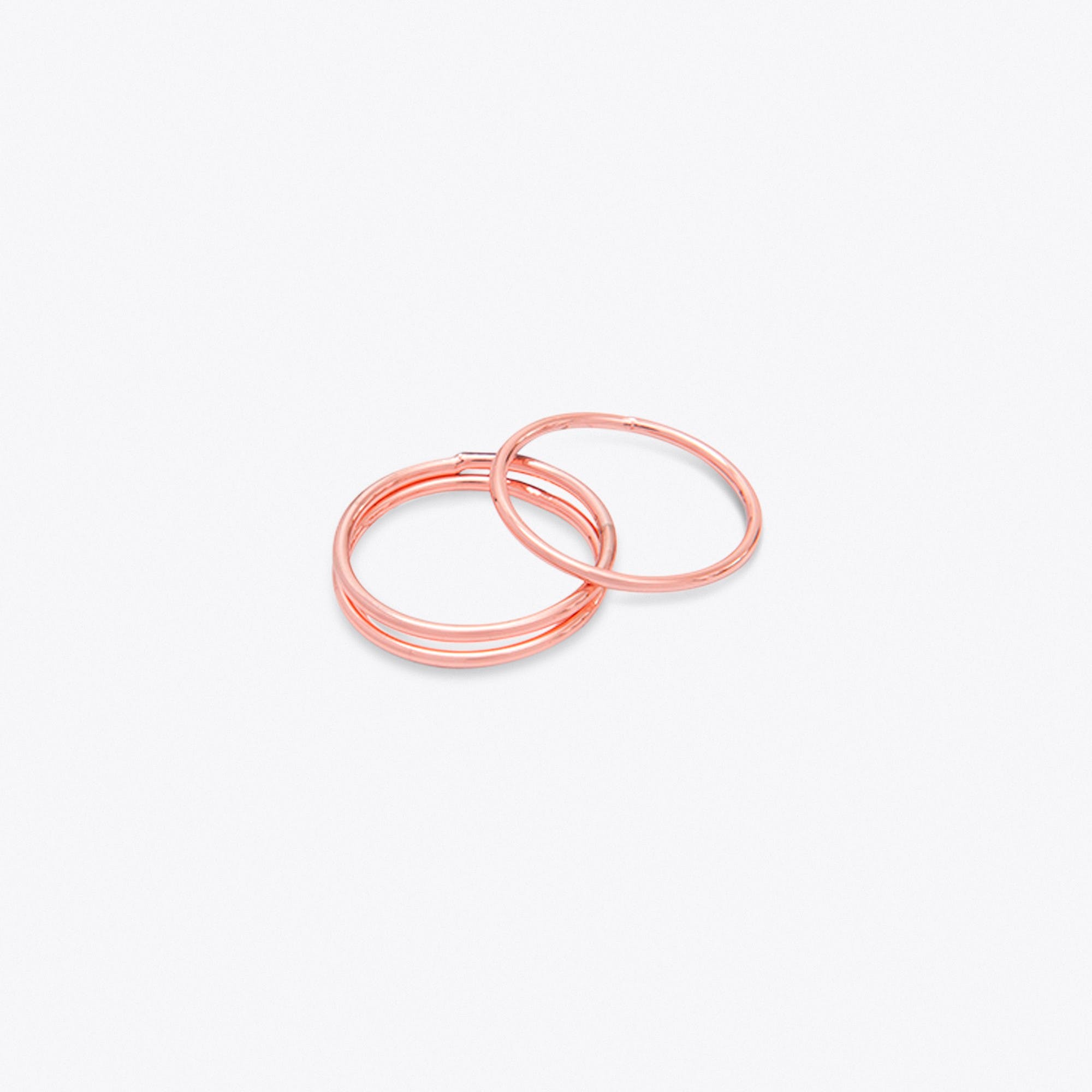 Thin Rose Gold Stacking Rings (set of 3)