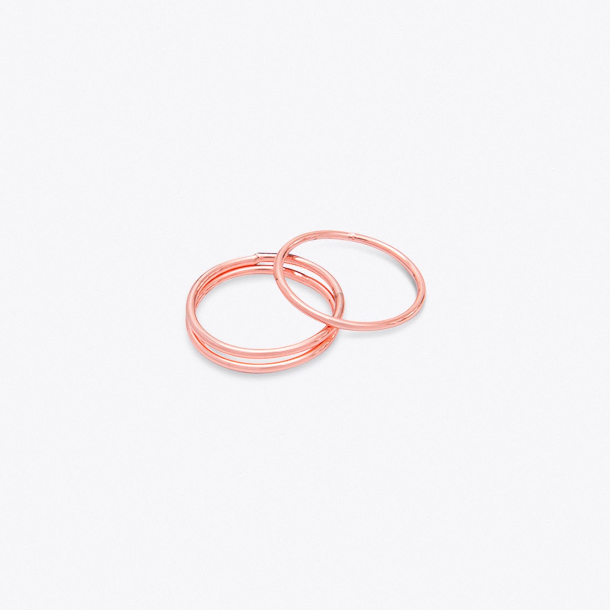 Thin Rose Gold Stacking Rings (set of 3)