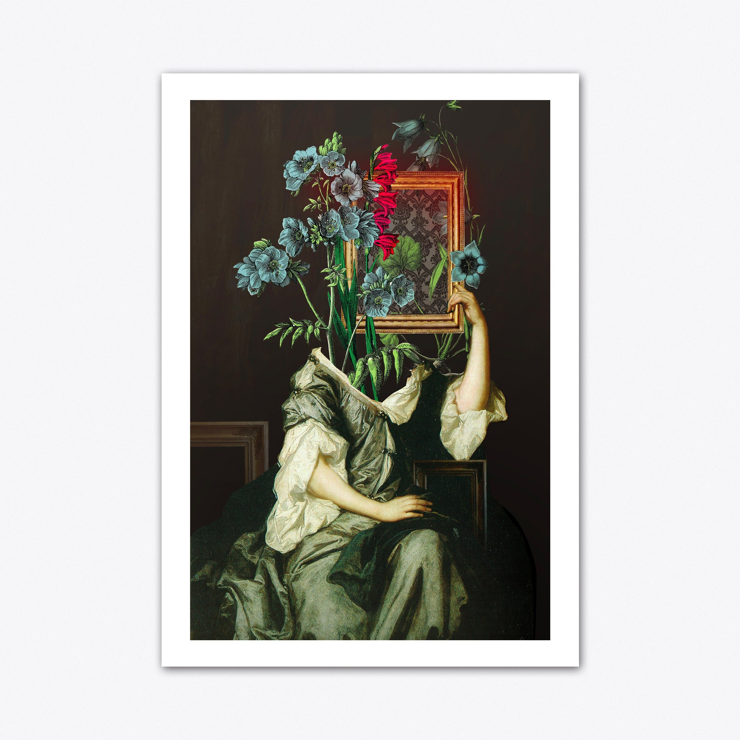 Florales Portrait Disaster Art Print