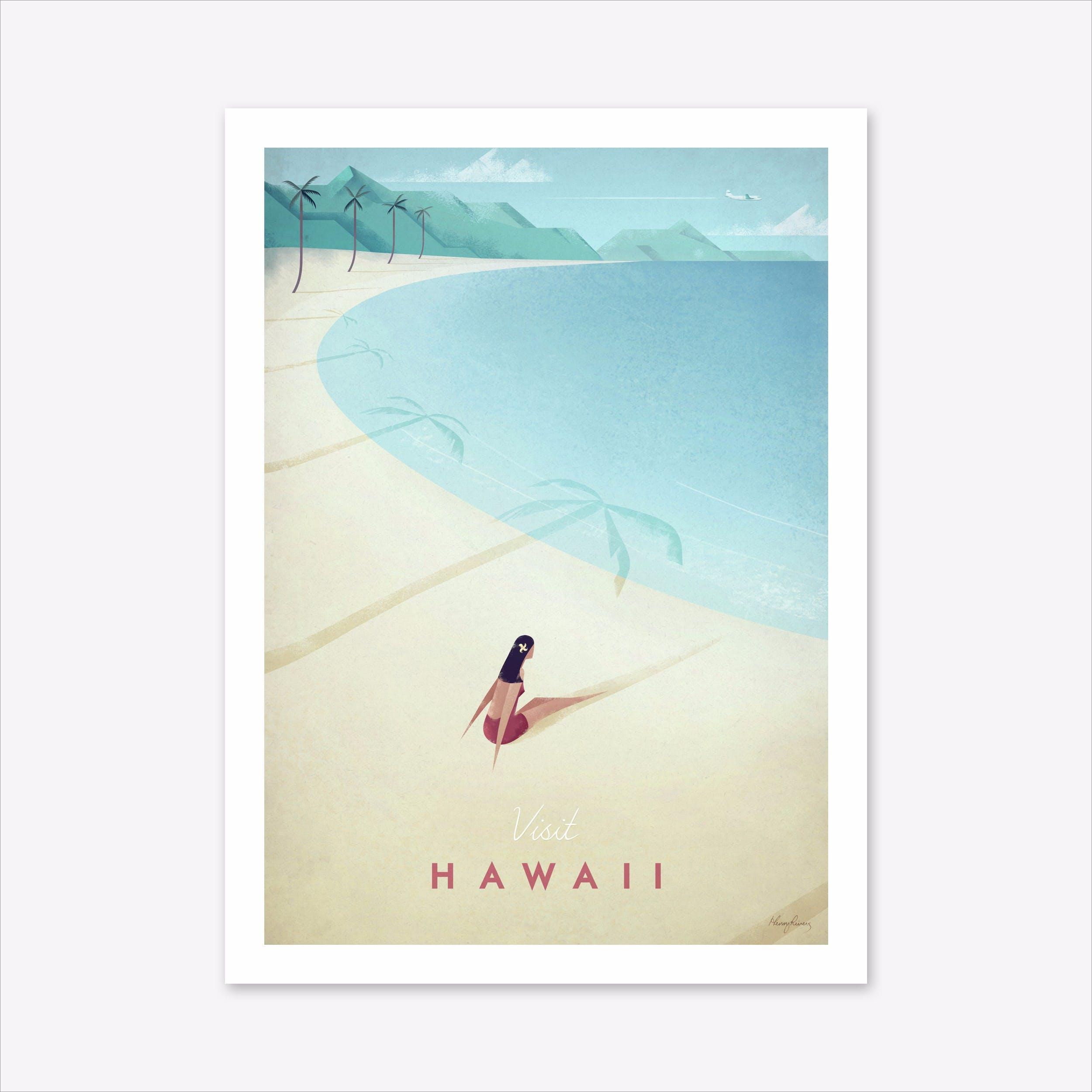 Visit Hawaii Art Print