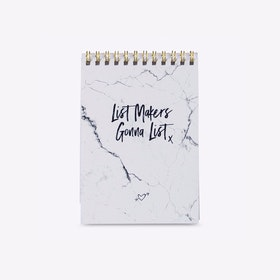 List Makers A6 Marble Writing Pad