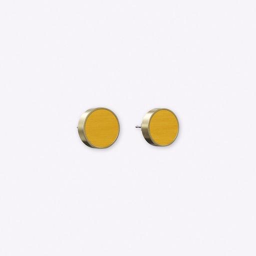 Determinative Earrings in Mustard