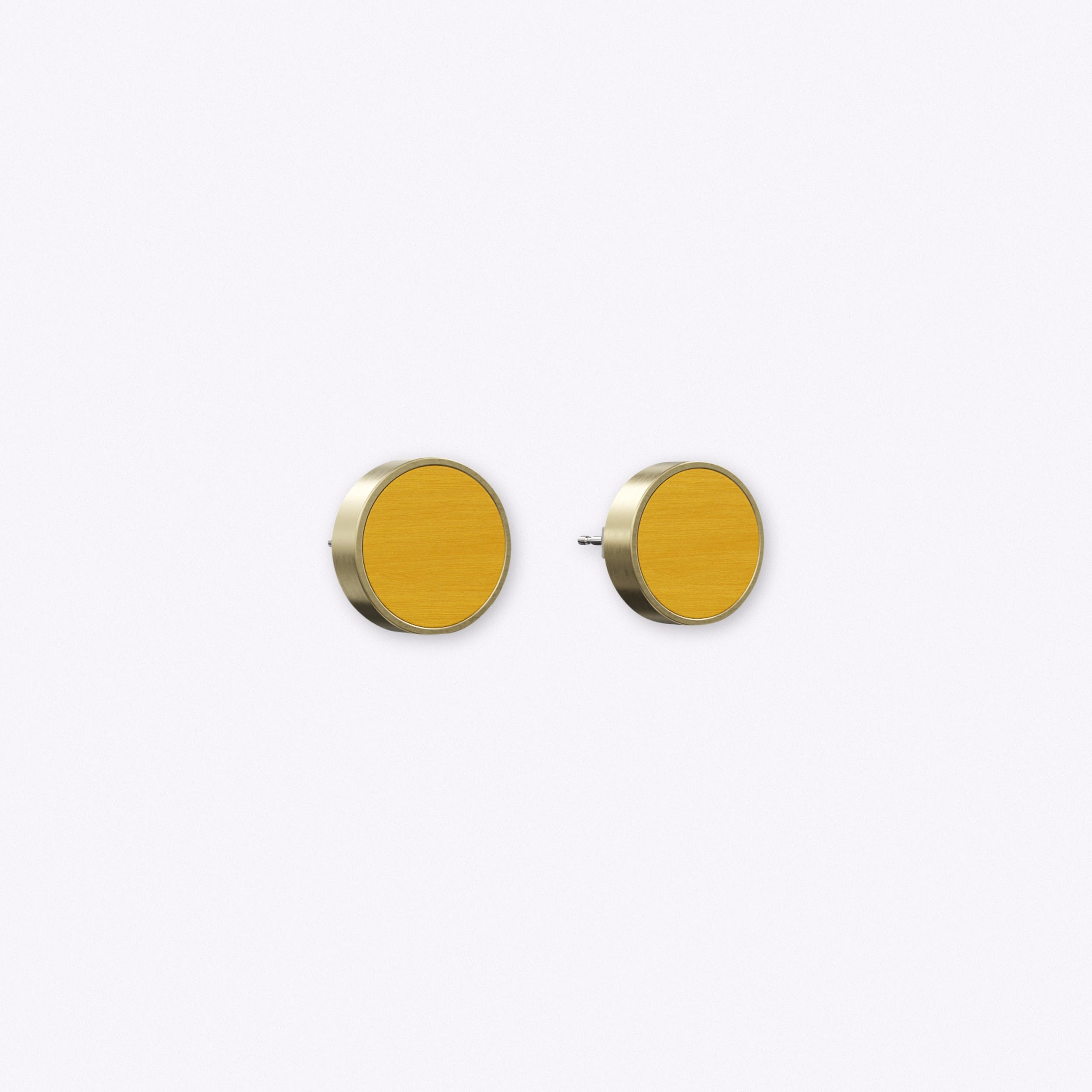 Determinative Earrings in Mustard