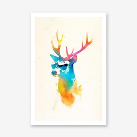Sunny Stag Final Art Print
