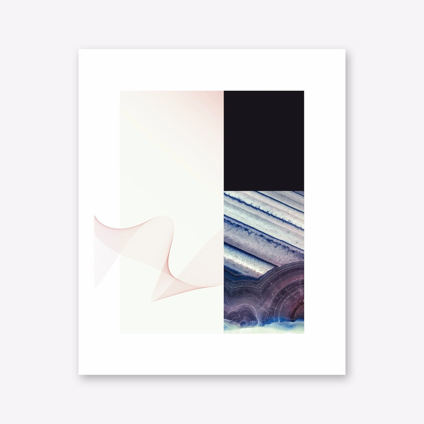 Abstract Waves Agate Print