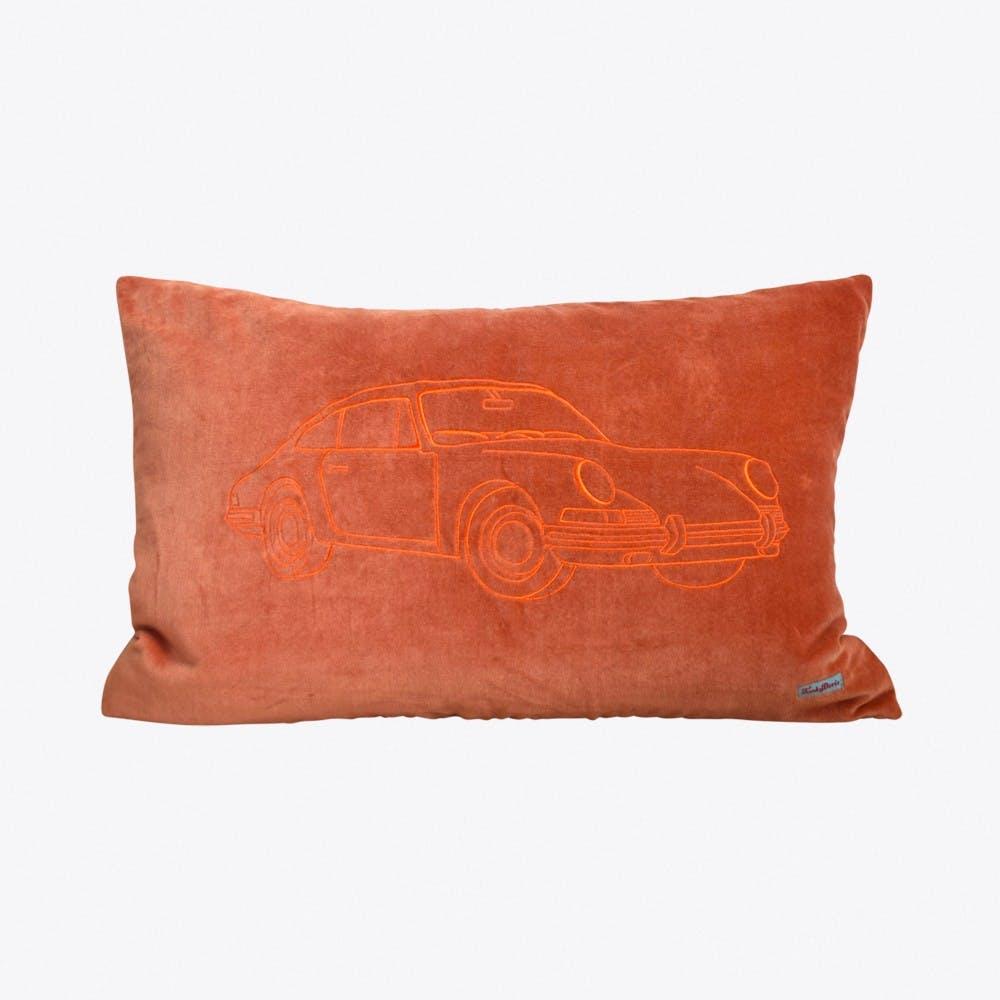 Porsche Warm Orange Cushion Cover