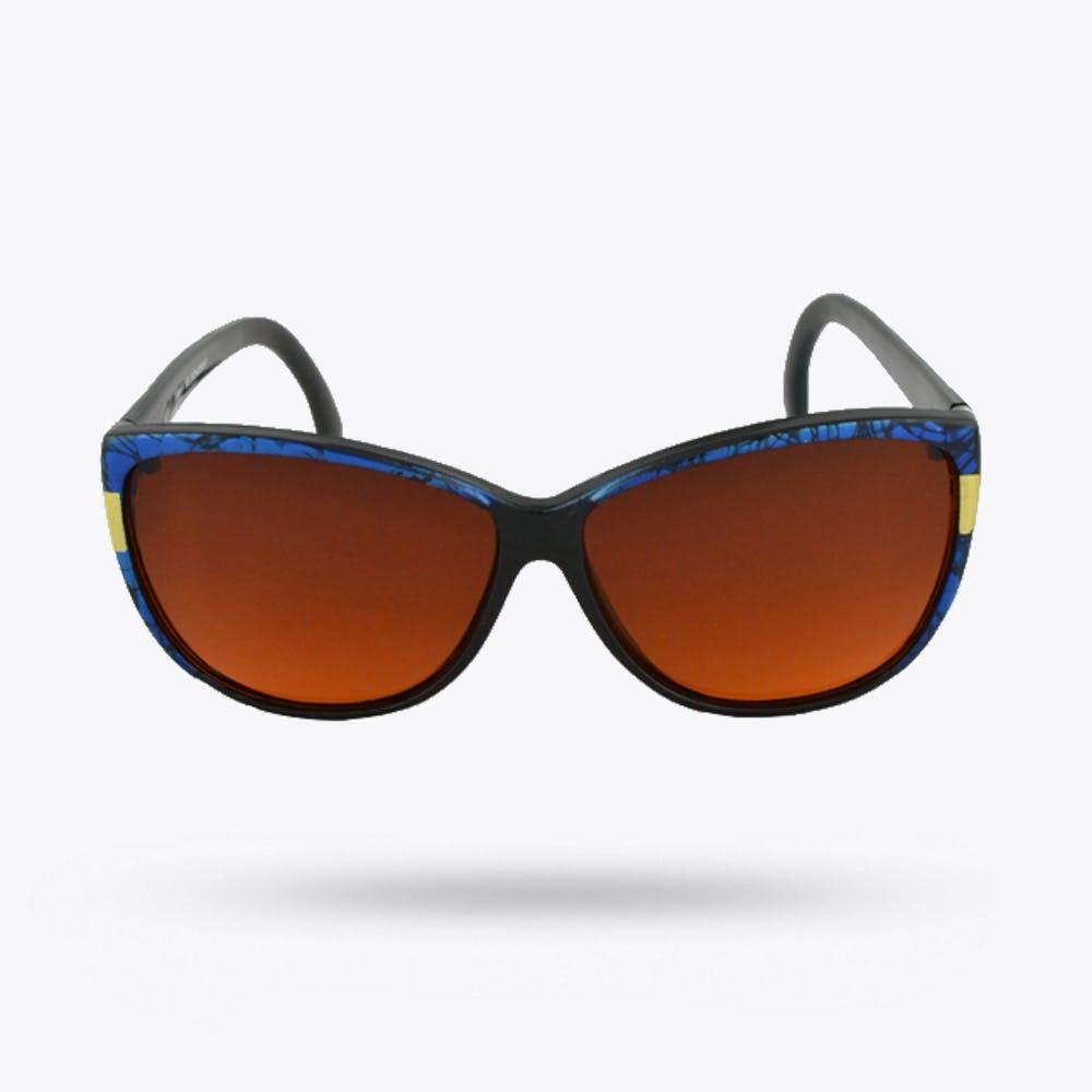 Cheerleader Blue Cat Eye Blue Blocker Sunglasses