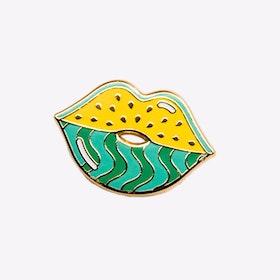 Watermelips Pin in Yellow