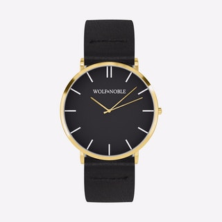 New Richmond Watch Black & Gold with Black Strap