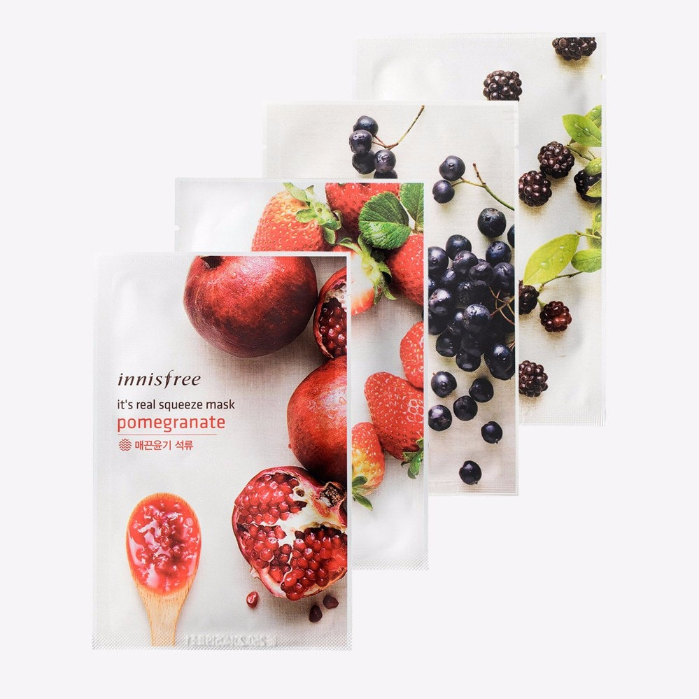 Inisfree Its Real Squeeze Mask Set I By Maskology Fy Innisfree Black Berry