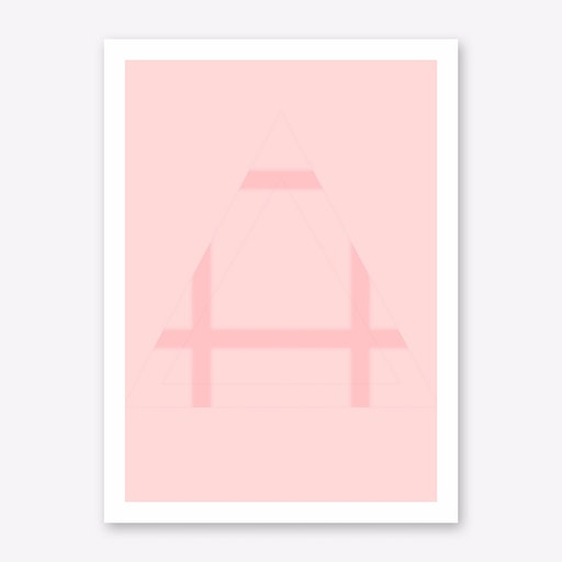 Pink Mountain V Print