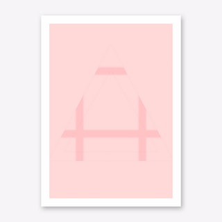 Pink Mountain V Art Print